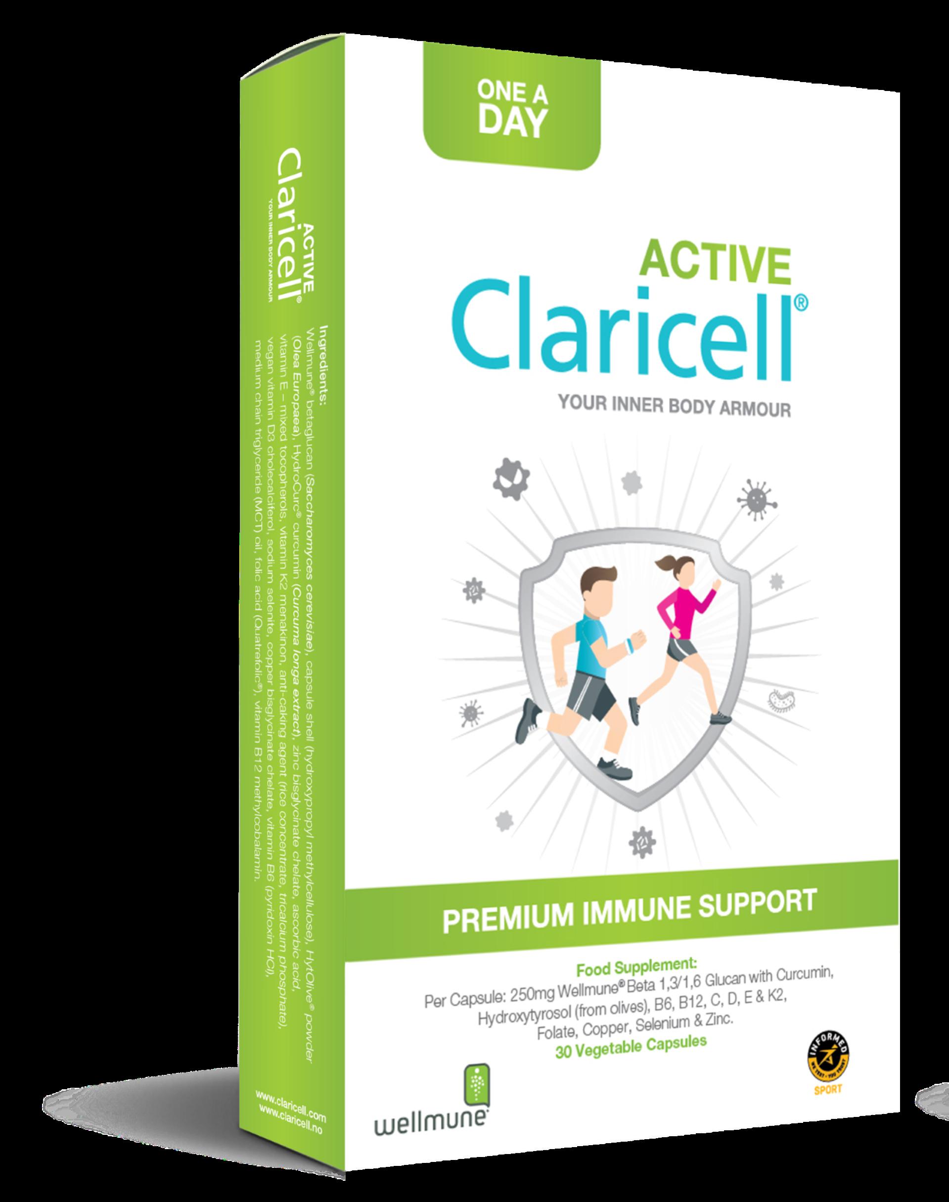 Claricell Active kosttilskudd for aktive og de som trener